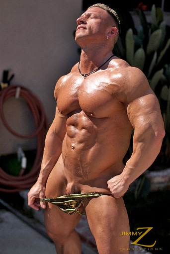 Muscle domination slaves Man Logan